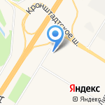 Эйс на карте Санкт-Петербурга