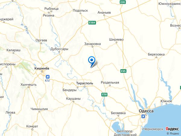 село Платоновка на карте