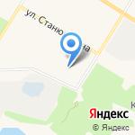 На Песках на карте Санкт-Петербурга