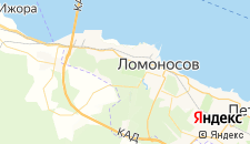 Гостиницы города Ломоносов на карте