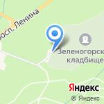 Зеленогорское кладбище на карте Санкт-Петербурга