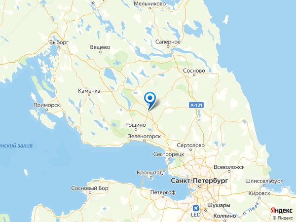 поселок Первомайское на карте
