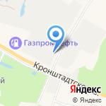 Кронштадтский мясоперерабатывающий завод на карте Санкт-Петербурга