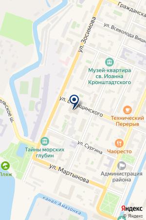 БАНЯ на карте Кронштадта