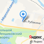 Онега-гранит на карте Санкт-Петербурга