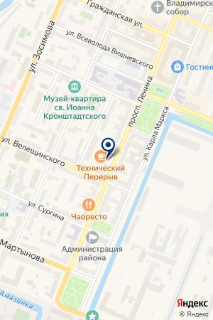 ПУНКТ ОБМЕНА ВАЛЮТЫ на карте Кронштадта