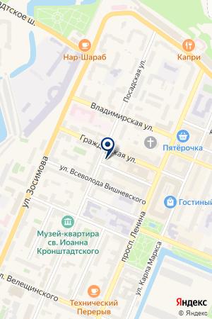 АВАРИЙНО-ДИСПЕТЧЕРСКАЯ СЛУЖБА ЖИЛИЩНОЕ АГЕНТСТВО Г. КРОНШТАДТА на карте Кронштадта