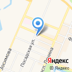 Дюнер на карте Санкт-Петербурга