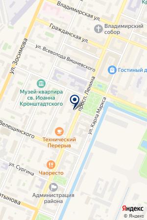 МАГАЗИН АВТОЗАПЧАСТИ на карте Кронштадта