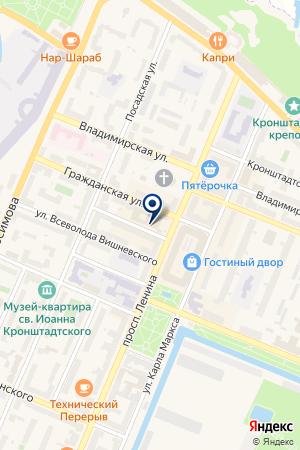 ЛОМБАРД БАЛТ-ИНВЕСТ на карте Кронштадта