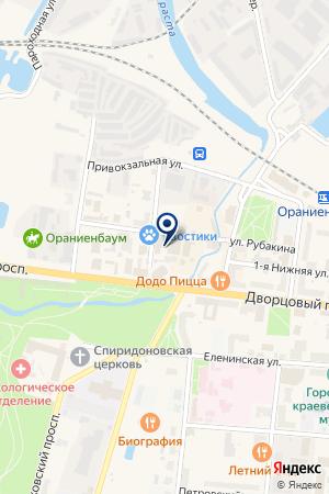 МАГАЗИН ШТОР ОАЗИС на карте Ломоносова