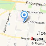 ОЛСТЕК на карте Санкт-Петербурга