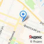 Гастроном на Флотской на карте Санкт-Петербурга