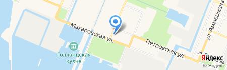 Сувенир Кронштадта на карте Санкт-Петербурга