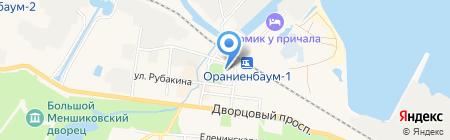 Поцелуй бабочки на карте Санкт-Петербурга