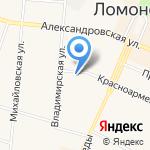 Крепыш на карте Санкт-Петербурга