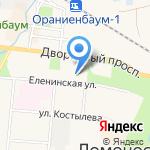 Балтийский луч на карте Санкт-Петербурга