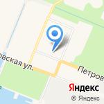 Петровский на карте Санкт-Петербурга