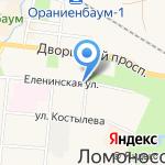 Краеведческий музей г. Ломоносов на карте Санкт-Петербурга