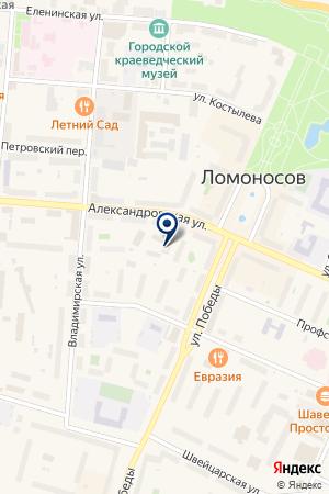 ЖИЛИЩНОЕ АГЕНТСТВО Г. ЛОМОНОСОВА на карте Ломоносова