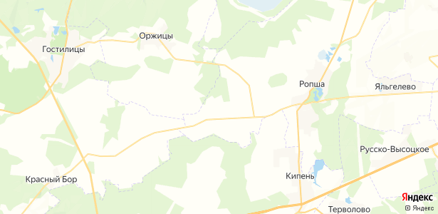Глядино на карте