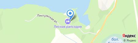 Лесная Рапсодия на карте Ильичёво