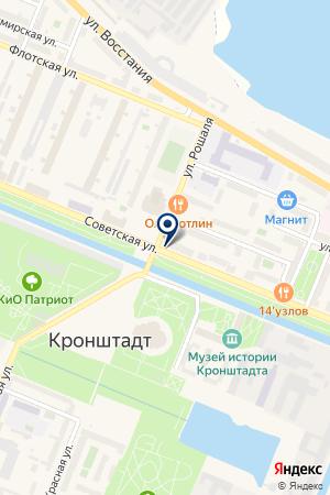 ПРОДОВОЛЬСТВЕННЫЙ МАГАЗИН ГАЛИО на карте Кронштадта
