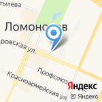 Ораниенбаум на карте Санкт-Петербурга