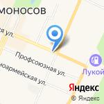 Магазин выпечки и кондитерских изделий на карте Санкт-Петербурга