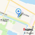 Островок на карте Санкт-Петербурга