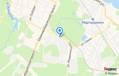 Местоположение на карте пункта техосмотра по адресу г Санкт-Петербург, г Ломоносов, ул Федюнинского, д 2 литер т