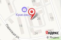Схема проезда до компании Красавица в Ильичёво