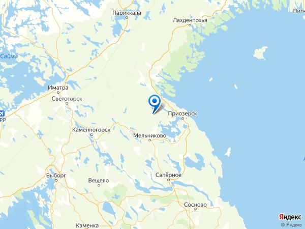 поселок Севастьяново на карте