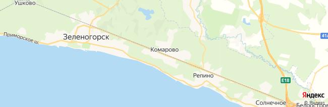 Комарово на карте