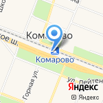 Комарово на карте Санкт-Петербурга