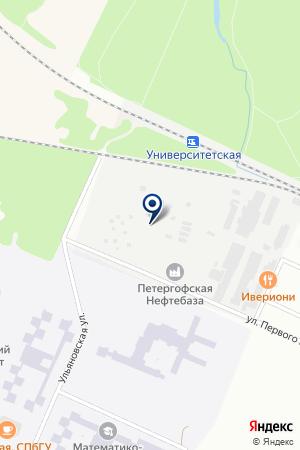 ЦТО ПЕТЕРГОФ-АВТО на карте Петергофа
