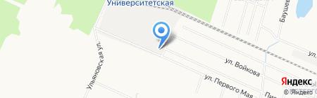 Ивириони на карте Санкт-Петербурга
