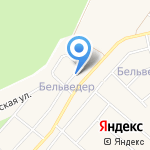 Бельведер на карте Санкт-Петербурга