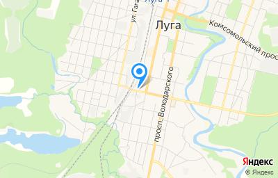 Местоположение на карте пункта техосмотра по адресу Ленинградская обл, г Луга, ул Победы, д 21