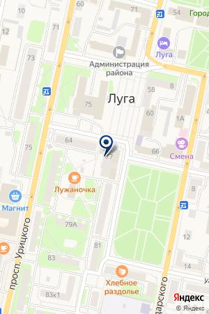 ТЕЛЕКОММУНИКАЦИОННАЯ ФИРМА ИНТЕЛКОМ на карте Луги