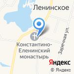 Церковь Рождества Христова в Ленинском на карте Санкт-Петербурга