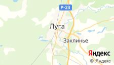 Гостиницы города Луга на карте