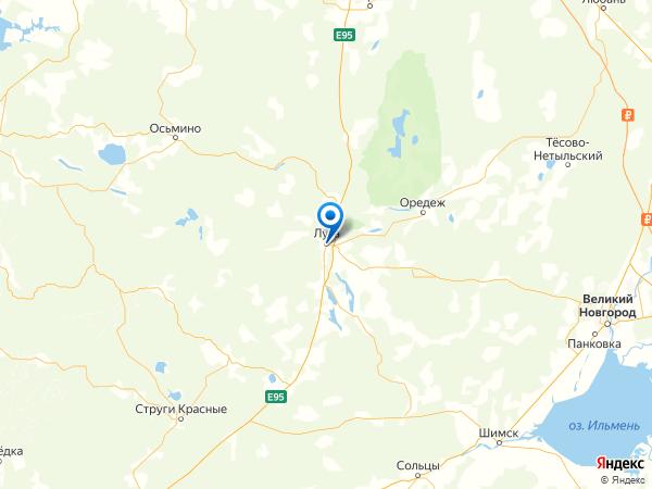 Луга на карте