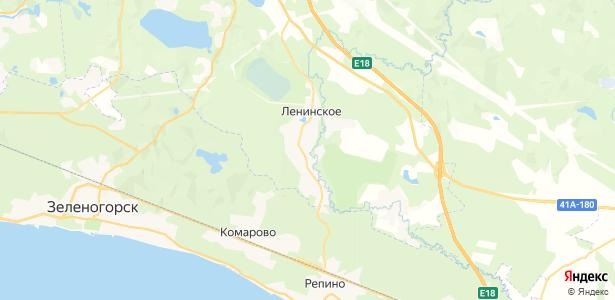 Ленинское на карте