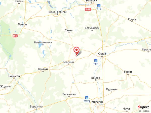 деревня Дубы на карте
