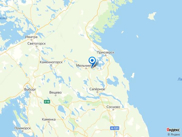 поселок Быково на карте