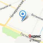 Акварель на карте Санкт-Петербурга