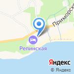 Репинская на карте Санкт-Петербурга