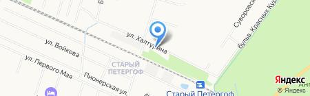 Шиномонтажная мастерская на ул. Халтурина на карте Санкт-Петербурга