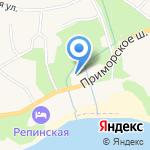 Муниципальное образование пос. Репино на карте Санкт-Петербурга